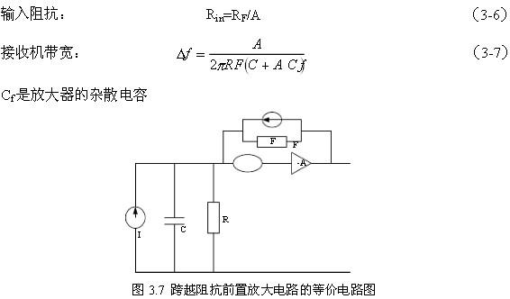 7是跨越阻抗的前置放大电路的等效电路图