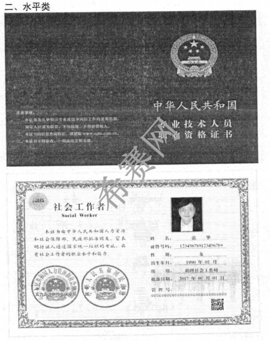 软考证书样式