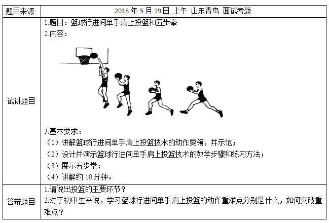 2018上半年初中体育教师资格证面试真题(第一批)考题回顾