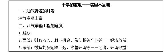 初中地理教师资格证面试真题及答案:油气资源的开发2